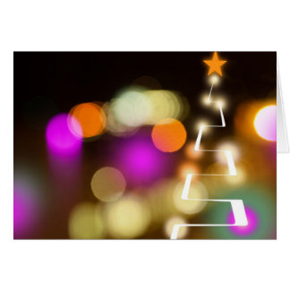 Modern Christmas Tree and Lights Card