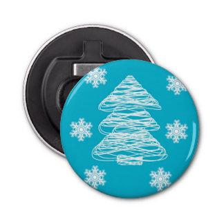 Modern Christmas Tree and Snowflake