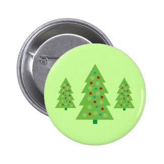 Modern Christmas Tree Art Button