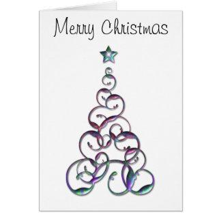 Modern Christmas Tree Art Greeting Card