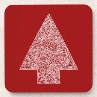 Modern Christmas Tree Beverage Coaster