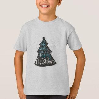Modern Christmas Tree - Hand Lettering Print T-Shirt