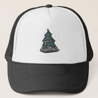 Modern Christmas Tree - Hand Lettering Print Trucker Hat