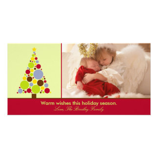 Modern Christmas Tree Holiday Photo Cards