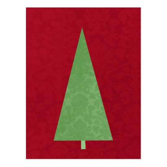 Modern Christmas Tree Holiday Post Card