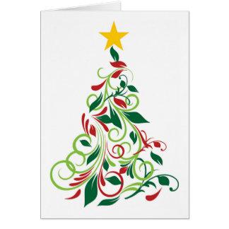 Modern Christmas tree Illustration Greeting Card