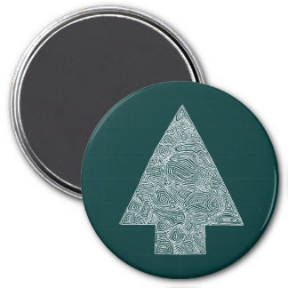 Modern Christmas Tree Magnet