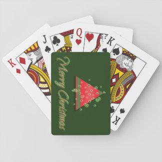 Modern Christmas tree merry christmas Poker Deck
