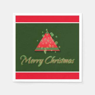 Modern Christmas tree merry christmas Disposable Napkin