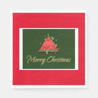 Modern Christmas tree merry christmas Disposable Napkins