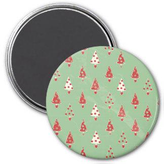 Modern Christmas Tree Pattern 7.5 Cm Round Magnet