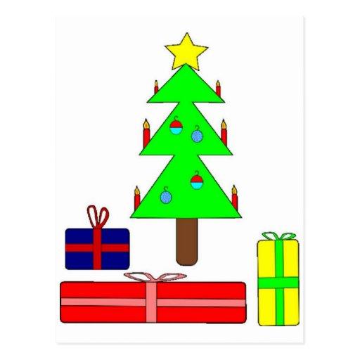 Modern Christmas Tree Postcard