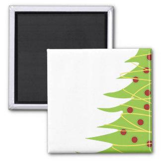 Modern Christmas Tree Square Magnet