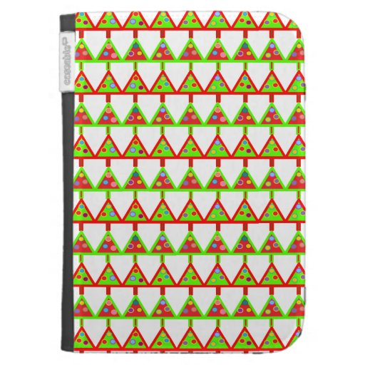 Modern Christmas Trees Pattern Kindle 3G Cases