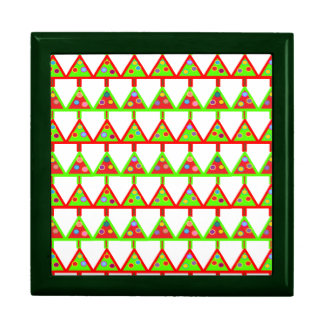 Modern Christmas Trees Pattern Large Square Gift Box