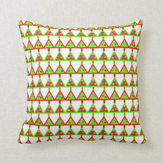 Modern Christmas Trees Pattern Throw Cushions