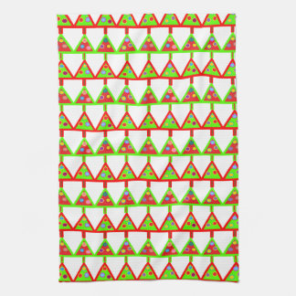 Modern Christmas Trees Pattern Towel