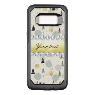 Modern Christmas Trees Snow Stars Diamonds OtterBox Commuter Samsung Galaxy S8 Case