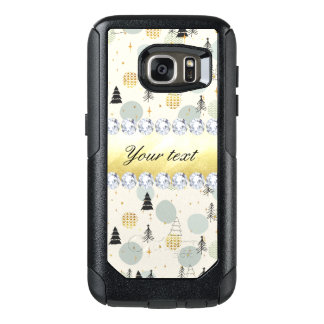 Modern Christmas Trees Snow Stars Diamonds OtterBox Samsung Galaxy S7 Case