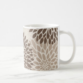 Modern Chrysanthemum Graphic Coffee Mug