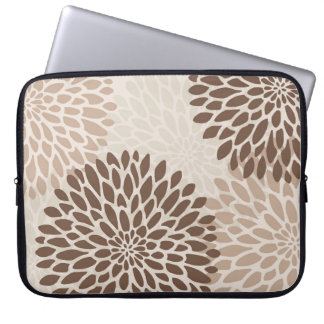 Modern Chrysanthemum Graphic Laptop Sleeve