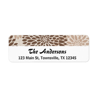 Modern Chrysanthemum Graphic Return Address Label