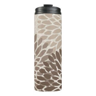 Modern Chrysanthemum Graphic Thermal Tumbler