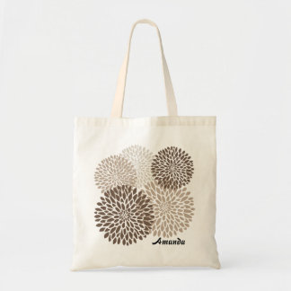 Modern Chrysanthemum Graphic Tote Bag