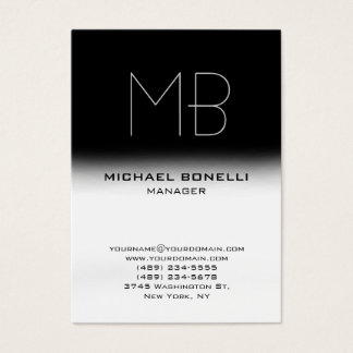 Modern chubby black white stylish business card