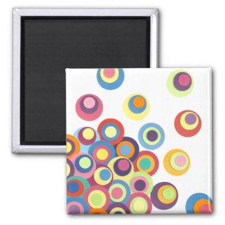 Modern Circle Design Square Magnet