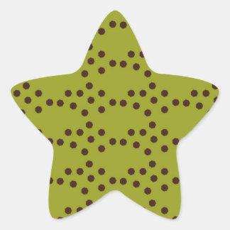 Modern Circle Pattern Star Sticker