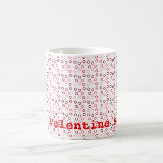 modern circles red coffee mugs