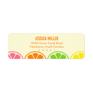 Modern Citrus Slices Return Address Label
