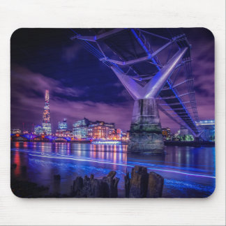 Modern City Bridge Mouse Mat