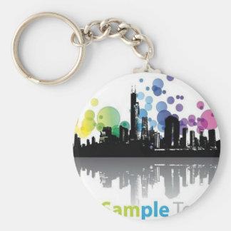 Modern city key chain
