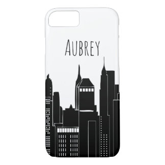 Modern City Skyline & Name iPhone 8/7 Case
