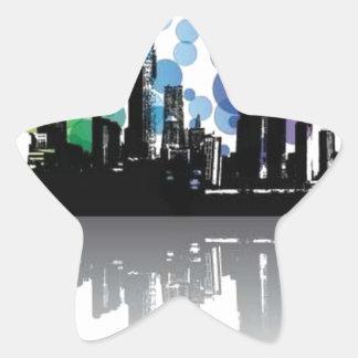 Modern city star stickers
