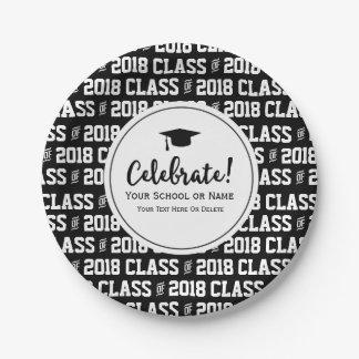Modern Class of 20XX Graduation Grad's Name Custom Paper Plate