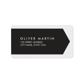 Modern Classic Black and Light Grey Address Labels