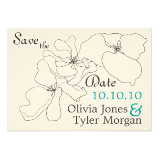 Modern Classic Save the Date Invites