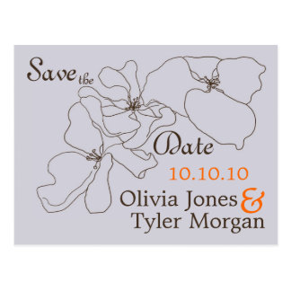 Modern Classic Save the Date Post Cards