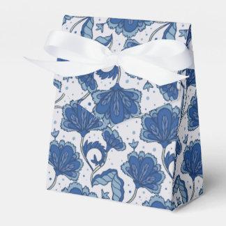 Modern classy elegant blue batik pattern favour box