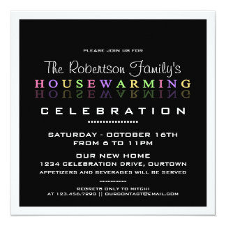Modern Classy Housewarming Party Invitations