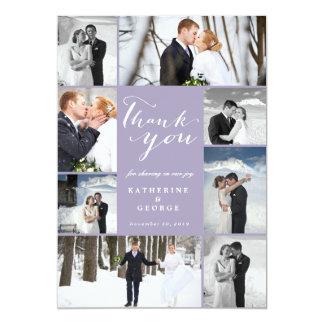 Modern Classy Photo Collage Wedding Thank You Card