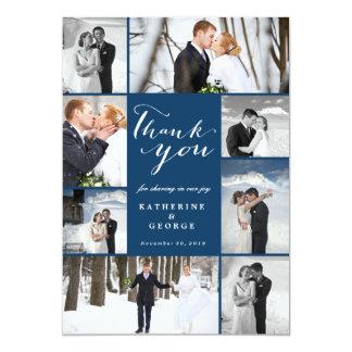 Modern Classy Photo Collage Wedding Thank You Card 13 Cm X 18 Cm Invitation Card