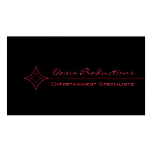 Modern Clean Diamond Business Card, Pink