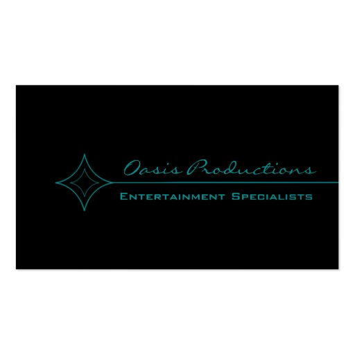 Modern Clean Diamond Business Card, Turquoise