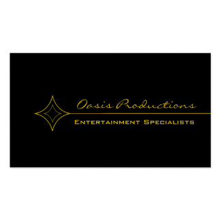 Modern Clean Diamond Business Card, Yellow
