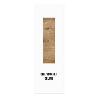 Modern Clean Elegant Wood Stripe Interior Designer Pack Of Skinny Business Cards