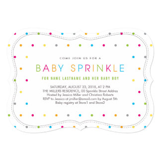 Modern Clean Neutral Baby Sprinkle Invite Bracket